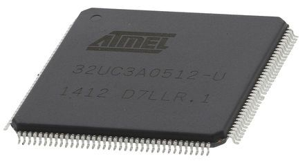 Microchip AT32UC3A0512-ALUT, 32bit AVR32 Microcontroller, 66MHz, 512 kB Flash, 144-Pin LQFP