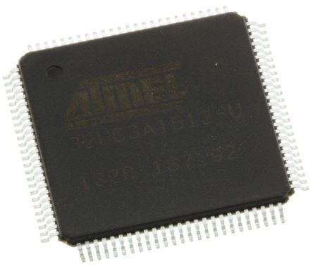 Microchip AT32UC3A1512-AUT, 32bit AVR32 Microcontroller, 66MHz, 512 kB Flash, 100-Pin TQFP