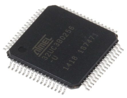 Microchip AT32UC3B0256-A2UT, 32bit AVR32 Microcontroller, 60MHz, 256 kB Flash, 64-Pin TQFP