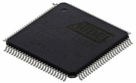 Microchip AT32UC3C1512C-AUT, 32bit AVR32 Microcontroller, 66MHz, 512 kB Flash, 100-Pin TQFP