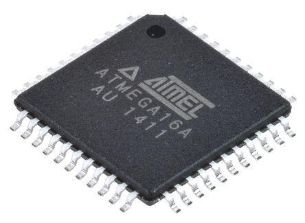 Microchip ATMEGA16A-AU, 8bit AVR Microcontroller, ATmega, 16MHz, 16 kB Flash, 44-Pin TQFP