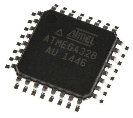Microchip Technology ATMEGA328-AU, 8bit AVR Microcontroller, 20MHz, 32 kB Flash, 32-Pin TQFP