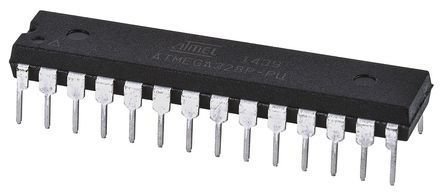 Microchip Technology ATMEGA328P-PU, 8bit AVR Microcontroller, 20MHz, 32 kB Flash, 28-Pin PDIP