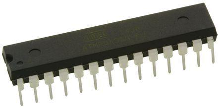 Microchip Technology ATMEGA328-PU, 8bit AVR Microcontroller, 20MHz, 32 kB Flash, 28-Pin PDIP
