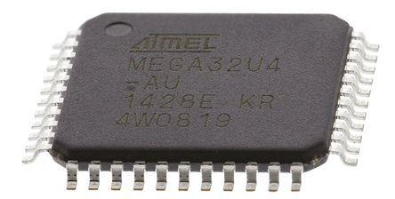 Microchip Technology ATMEGA32U4-AU, 8bit AVR Microcontroller, 16MHz, 32 kB Flash, 44-Pin TQFP