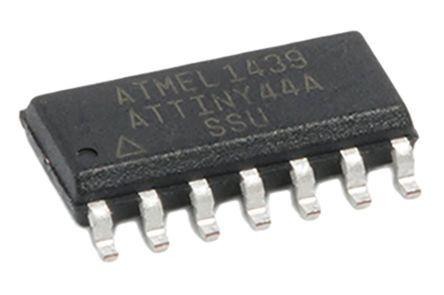 Microchip Technology ATTINY44A-SSU, 8bit AVR Microcontroller, 20MHz, 4 kB Flash, 14-Pin SOIC