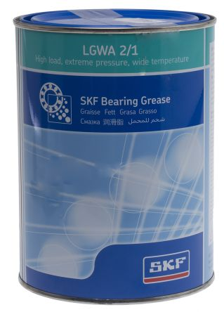 SKF Lithium Complex, Mineral Oil Grease 1 kg LGWA 2 Tin
