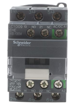 LC1D09F7 | Schneider Electric 3 Pole Contactor, 9 A, 110 V