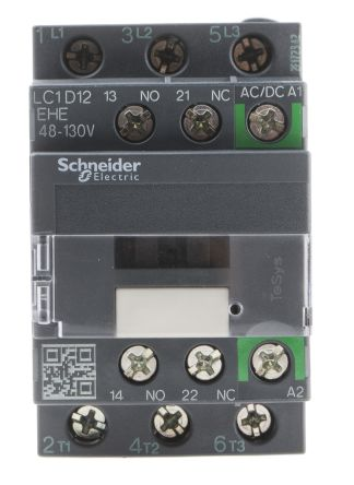 Schneider Electric TeSys D Green LC1D 3 Pole Contactor, 3NO, 12 A, 5.5 kW V ac @ 380 → 400