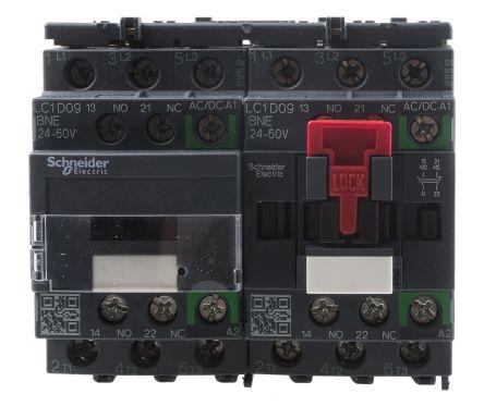 TeSys D Green LC2D 3 Pole Reversing Contactor, 3NO, 9 A, 5.5 kW @ 660 → 690 V ac, 24 → 60 V ac/dc Coil