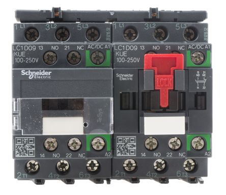 Schneider Electric TeSys D Green LC2D 3 Pole Reversing Contactor, 3NO, 9 A, 5.5 kW @ 660 → 690 V ac