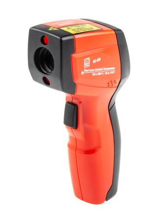 RS PRO Infrared Thermometer, Max Temperature +380 °C, +716 °F, ±1 %, Centigrade, Fahrenheit