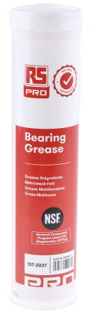 RS PRO Grease Grease for bearings 380 g Cartridge,Food Safe
