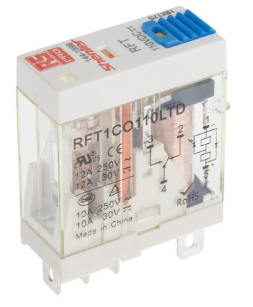 RFT1CO110LTD RS Pro RS Pro SPDT NonLatching Relay Plug In 110V