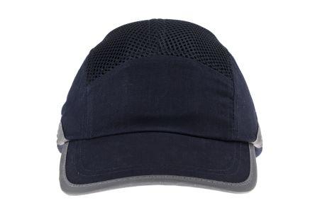 ABS, Cotton Mesh Navy/White Standard Peak Bump Cap product photo