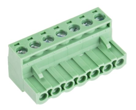 RS PRO 5 08mm Pitch Straight PCB Terminal Block, Clamp Terminal Block, PCB  Mount, 7 Way