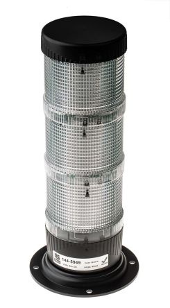 LED Pre-Configured Beacon Tower, Amber, Green, Red, 24 V dc