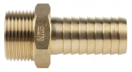 """brass 3//4/"""" male hose to male hose adopter"""