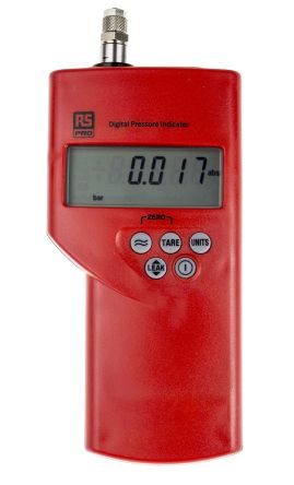 RS PRO Differential Manometer With 1 Pressure Port/s, Max Pressure Measurement 1bar