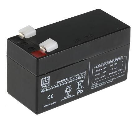 Lead Acid Rechargeable Battery - 12V, 1.2Ah