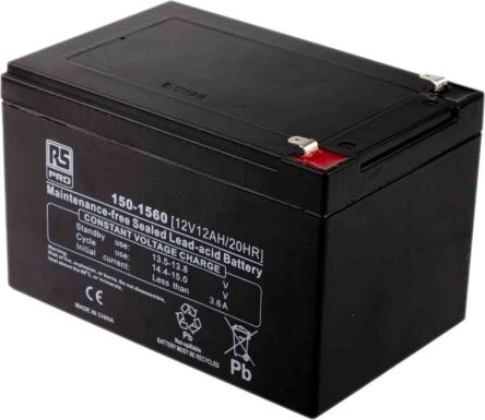 lp12 12fr rs pro lead acid rechargeable battery 12v 12ah 150