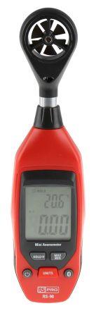 RS PRO RS-90 NTC, Rotary Vane 25m/s Max Air Velocity Air Temperature, Air Velocity Anemometer