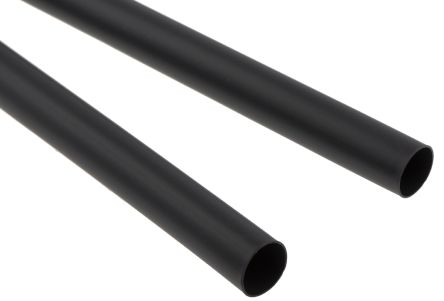 TE Connectivity Adhesive Lined Heat Shrink Tubing, Black 12mm Sleeve Dia. x 1.2m Length 3:1 Ratio, CGAT Series
