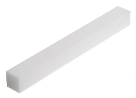 Machinable Glass Ceramic Square Bar, 100mm x 10mm x 10mm