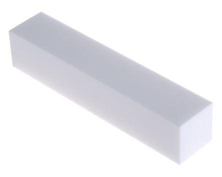 Machinable Glass Ceramic Square Bar, 100mm x 20mm x 20mm
