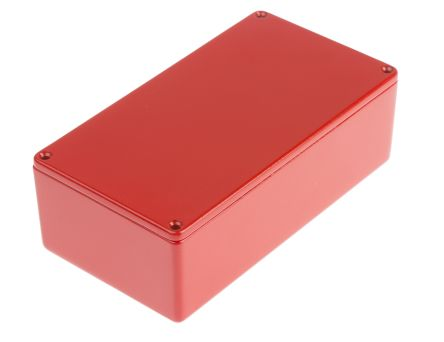 RS PRO Die Cast Aluminium Enclosure, IP54, Shielded, 152 x 82 x 49.75mm Red