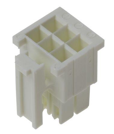 Carcasa de conector de crimpado Samtec IPD1-03-D-K, Serie IPD1, paso: 2.54mm, 6 contactos, 2 filas, Recto, Macho