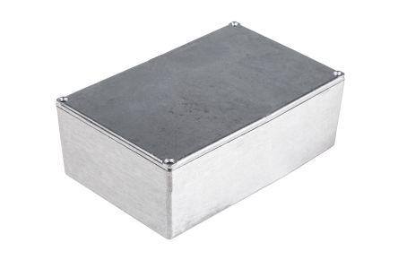 RS PRO Aluminium Enclosure, IP54, IP65, IP66, Shielded, 152 x 82 x 49.75mm