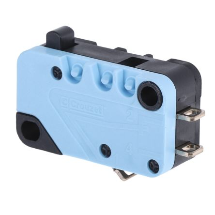 NO/NC Plunger Microswitch, 20 A @ 250 V ac