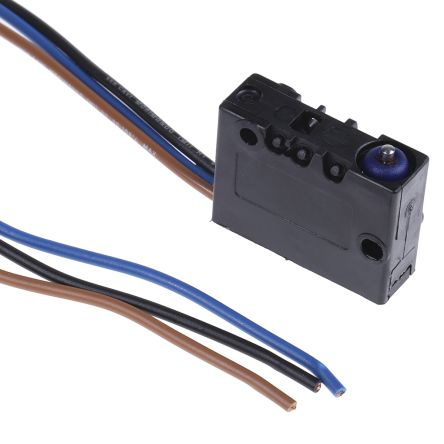 SPDT-NO/NC Plunger Microswitch, 8 A @ 250 V ac