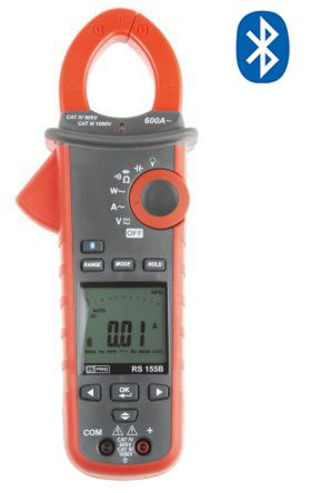 155B Bluetooth Clamp Meter, Max Current 600A ac CAT III 1000 V, CAT IV 600 V product photo