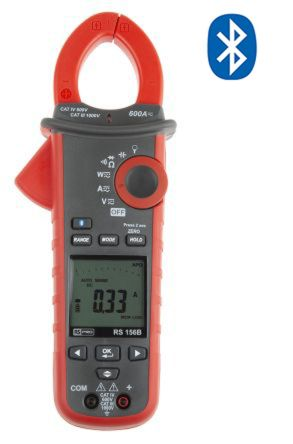 156B Bluetooth Clamp Meter, Max Current 600A ac, 600A dc CAT III 1000 V, CAT IV 600 V product photo