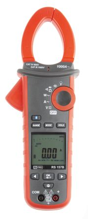 157B Bluetooth Clamp Meter, Max Current 1kA ac CAT III 1000 V, CAT IV 600 V product photo