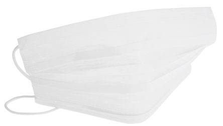 white disposable face mask