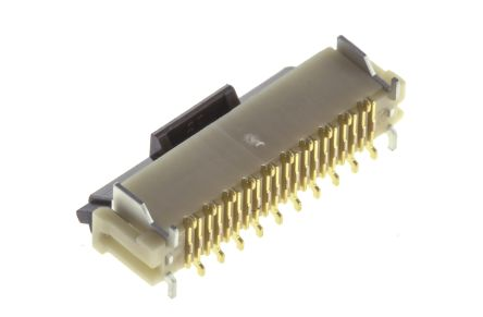 DX Series, Male 20 Pin Right Angle Through Hole SCSI Connector 1.27mm Pitch, Plug In, Screw product photo