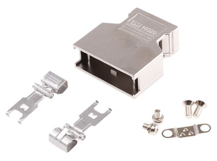 103 Series Die Cast Aluminium D-sub Connector Backshell, 20 Way, Strain Relief product photo