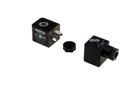 Festo 24V dc 2.1W Replacement Solenoid Coil, Compatible With VSNC