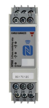 Carlo Gavazzi Frequency, Phase, Voltage Monitoring Relay SPDT, NFC, 3 Phase, 166 → 576 V