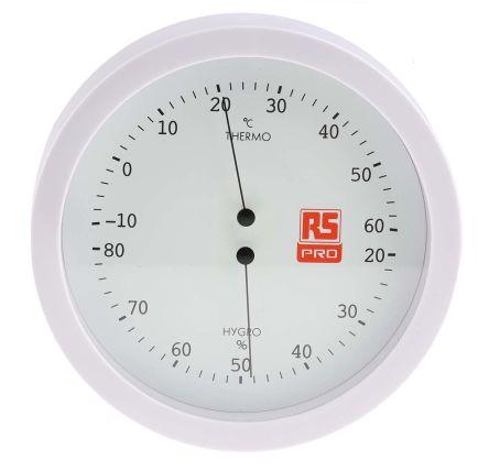 RS PRO Analogue Thermohygrometer, Max Temperature +60°C, Max Humidity 80%RH