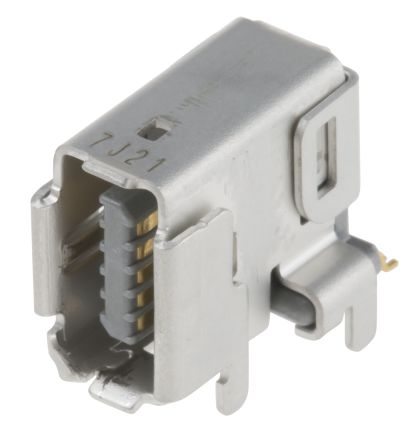 Hirose 10 Way Female Ethernet Connector Right Angle