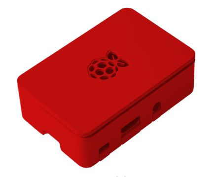 DesignSpark Raspberry Pi Case for use with Raspberry Pi 3 Model B, Raspberry Pi 3 Model B+, Raspberry Pi Model 2B, Red