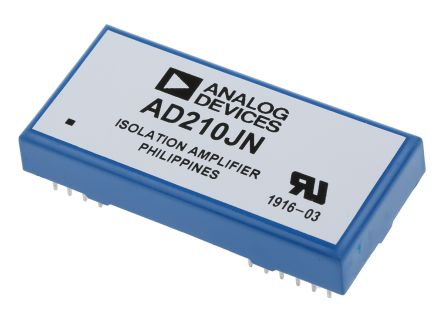 Analog Devices AD210JN, Isolation Amplifier, 15 V, 12-Pin PDIP