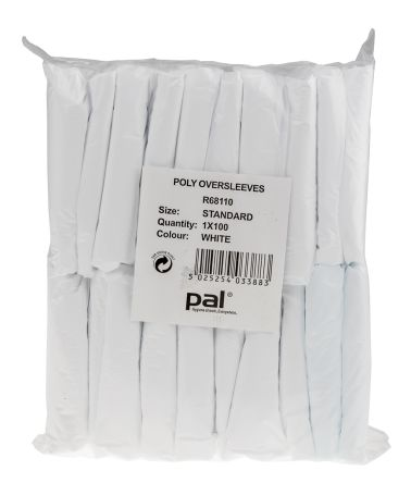 PAL White Polyethylene Protective Sleeves One Size