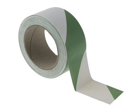 Green/White Lane Marking Tape, 50mm x 33m product photo