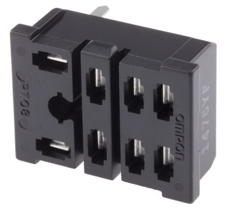 PT08-0 | Omron 8 Pin Relay Socket, 110V ac for use with LY1-0, LY2-0 on rockwell 8 pin relay, square d 8 pin relay, dayton 8 pin relay, allen bradley 8 pin relay, idec 8 pin relay, potter brumfield 8 pin relay, 12 vdc 6 pin relay,