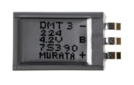 Murata 220mF Supercapacitor EDLC ±20% Tolerance DMT Series 4 2V Surface  Mount
